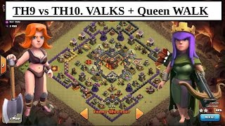 getlinkyoutube.com-TH9 vs MAX TH10. Defeat the Square BASE. Valks + Queen Walk. War Attack. Clash of Clans