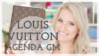getlinkyoutube.com-Louis Vuitton Agenda GM Planner Setup + Review