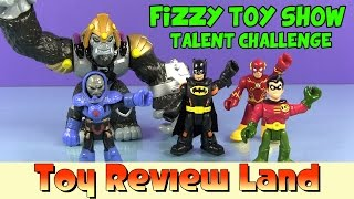 getlinkyoutube.com-Imaginext Fizzy Toy Show Talent Challenge: With Batman, Robin, Flash, Gorilla Grodd, and Darkseid!