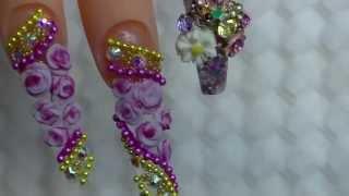 getlinkyoutube.com-Bejeweled cute nails