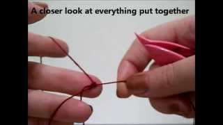 getlinkyoutube.com-Beginning Shuttle Tatting ~ Winding, Double Stitch, Ring ~ Tutorial ~ kmemuse