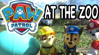 "getlinkyoutube.com-PAW PATROL Toy Parody ""Paw Patrol Visits Zoo"" with a Surprise Egg with Surprise Candy"