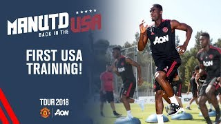 Manchester United USA Training Session | Goalkeeper & Fitness Drills | Tour 2018 Live on MUTV