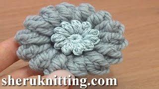getlinkyoutube.com-How to Crochet Round Button Tutorial 1 Double Crochet Upside Down Y Stitch