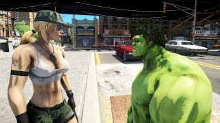 getlinkyoutube.com-SONYA BLADE (Mortal Kombat) VS THE INCREDIBLE HULK - EPIC BATTLE - GTA IV