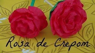 getlinkyoutube.com-Rosa de Papel Crepom - DIY