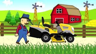 getlinkyoutube.com-☻ Lawn Mower | Farmer | Fairy Tales | Rolnik Koszenie Trawy ☻