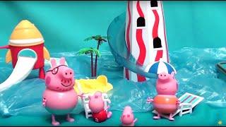 getlinkyoutube.com-Peppa Pig свинка Пеппа и ее семья. Мультфильм для детей. Аквапарк