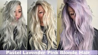 getlinkyoutube.com-Pastel Lavender Pink Blonde Hair make-over
