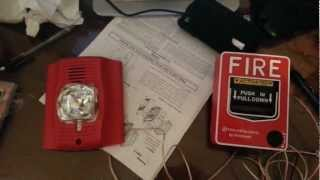 mqdefault how to wire a fire alarm to pull station youtube simplex pull station wiring diagram at edmiracle.co