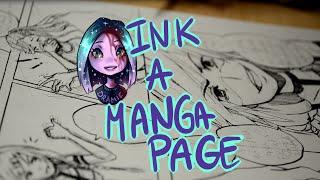 getlinkyoutube.com-♣ Speedpaint ♣ Drawing Manga Page - G Pen [#001]