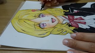 getlinkyoutube.com-Drawing Yui Komori from Diabolik Lovers
