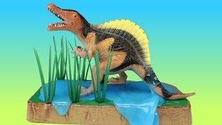 getlinkyoutube.com-Dinosaur Slime Toys Stompin Ground - T-rex Spinosaurus Velociraptor - Dinosaurs Toy For Kids