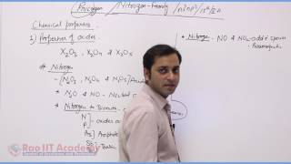 P block Nitrogen family Chemistry Video Lecture RAO IIT ACADEMY