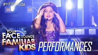 Your Face Sounds Familiar Kids: Xia Vigor as Selena Gomez