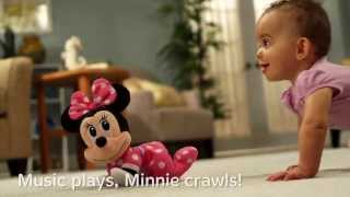 getlinkyoutube.com-Fisher Price - Disney Baby - Minnie Mouse Musical Touch n Crawl