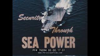 1957  U.S. NAVY AIRCRAFT CARRIER STRIKE FORCE MOVIE  REGULUS MISSILE  USS SARATOGA 76094