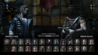 Mortal Kombat X: Johnny Cage vs Erron Black Gameplay PT/BR (DUBLADO) PS4