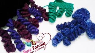 getlinkyoutube.com-كروشيه الشكل اللولبى بغرزه ( العامود بلفه -النصف عامود - الحشو) -خيط وابره- Curly\Spiral\ Crochet