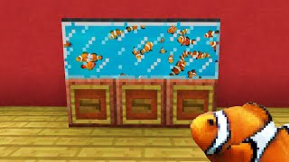 Minecraft : How To Make an Aquarium  [with fishes]