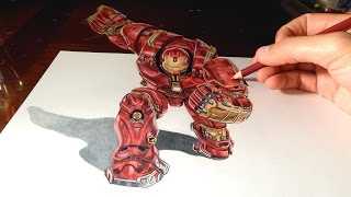 getlinkyoutube.com-HULKBUSTER: Amazing 3D Anamorphic Drawing Illusion #5