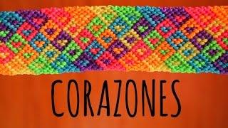 getlinkyoutube.com-Corazones / Pulseras de macramé ♥