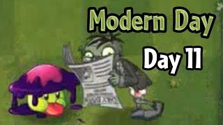 getlinkyoutube.com-Plants vs Zombies 2 - Modern Day - Day 11: Shadow-shroom