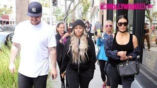 getlinkyoutube.com-Kim Kardashian, Rob Kardashian & Blac Chyna Have Lunch Together In Beverly Hills 4.26.16