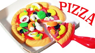 Play Doh Pizza Set Cooking Meal Playdough Games Doh Food Playset Kids Fun Toys