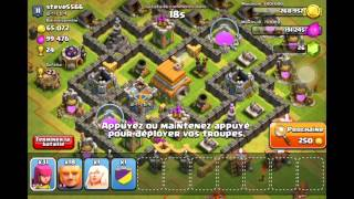 getlinkyoutube.com-Clash Of Clan: Technique D'Attaque HDV 6