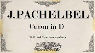 getlinkyoutube.com-J.Pachelbel Canon - violin 1- Piano Accompaniment