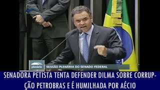 getlinkyoutube.com-Senadora petista tenta defender Dilma sobre corrupção na Petrobras e é humilhada por Aécio