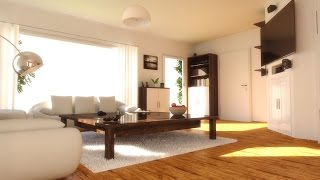 getlinkyoutube.com-Cinema 4D - V-Ray - Interior Rendering | Creation Process