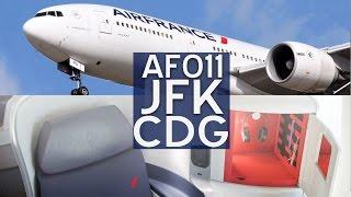 """Air France B777-200  New """"Best & Beyond"""" Business Class   JFK-CDG"""