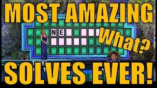 😲😲 [WHEEL OF FORTUNE]'s MOST AMAZING SOLVES EVER!😲😲