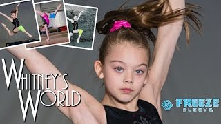 getlinkyoutube.com-Whitney and Addison Model for Freeze Sleeve Gymnastics Photo Shoot   Whitney Bjerken