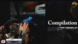 getlinkyoutube.com-Logitech G27 Gameplay best Racing Steering wheel, Games - compilation montage. 2014 hd
