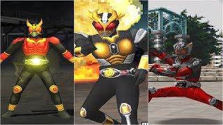 [HD] Kamen Rider Kuuga, Agito, Ryuki (PS1) - All Finisher