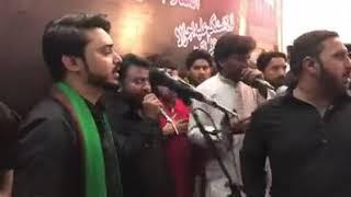 Noha nikay nikay chollay masoom de by Ali hamza
