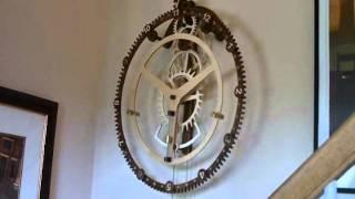 getlinkyoutube.com-Wood Gear Clock #9 by Steve K