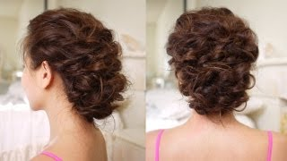 getlinkyoutube.com-Easy Messy Updo Hair Tutorial