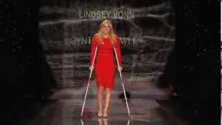 Lindsey Vonn at the Go Red For Women Event (The Heart Truth Red Dress Collection 2014)