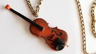 getlinkyoutube.com-Violin Tutorial: Polymer Clay How-to