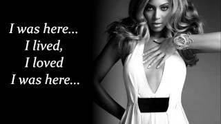 getlinkyoutube.com-Beyonce - I was Here lyrics