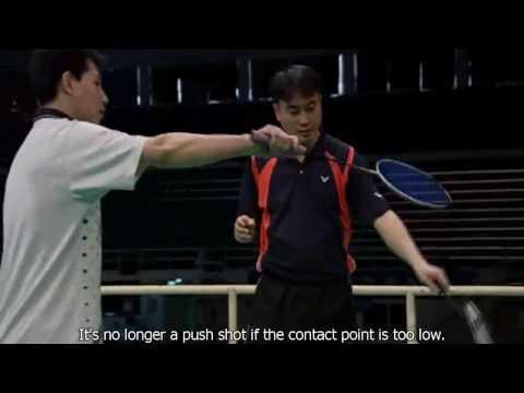 ZH&XJ Badminton Lesson Ep 10 part 2 Smashing & Backhand Push Shot