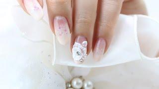 getlinkyoutube.com-[미대의 네일컬렉션] 73화_엠보 웨딩네일아트/Wedding Nail Art/nailcollection by midae