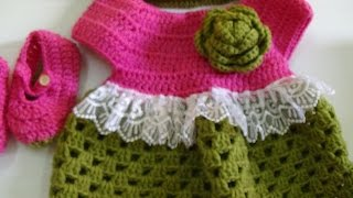 getlinkyoutube.com-CROCHET  BABY DRESS
