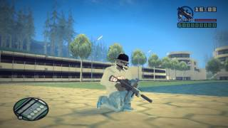 getlinkyoutube.com-[GTA SA] Black Chrome Weapons + Skin + Weapon Sound + Audi S5 Black Edition + Effect Mod [DL]