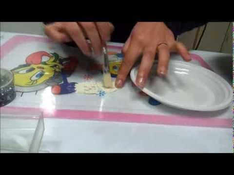 DIY TUTORIAL orecchini uncinetto VENTAGLIO parte 2 di 2 inamidare  e attaccare gli strass hot fix