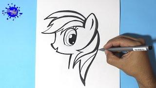 getlinkyoutube.com-How to draw my little pony / Como dibujar a Rainbow Dash 3 / How to draw Rainbow Dash